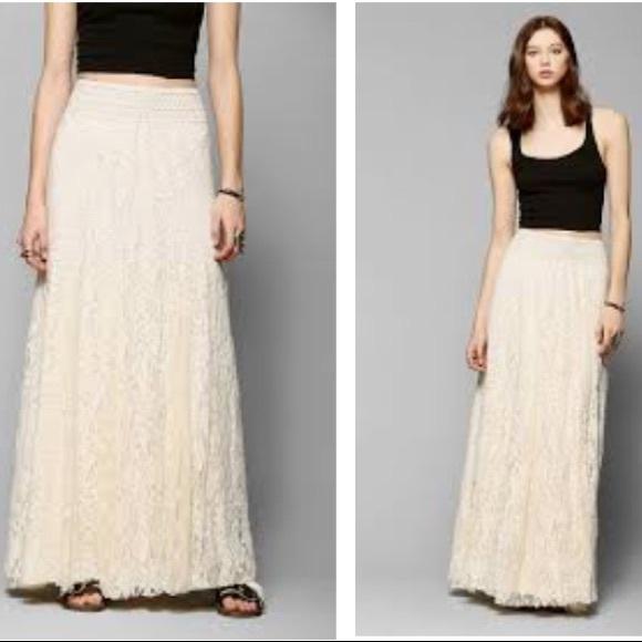 efe806162b Kimchi Blue Dresses   Skirts - Kimchi Blue margarita Ivory Lace Maxi Skirt